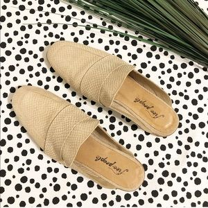 Free People Suede Snake Flats